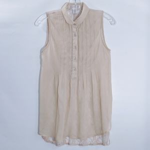 Band of Gypsies Sheer and Lace Sleeveless Tunic XS